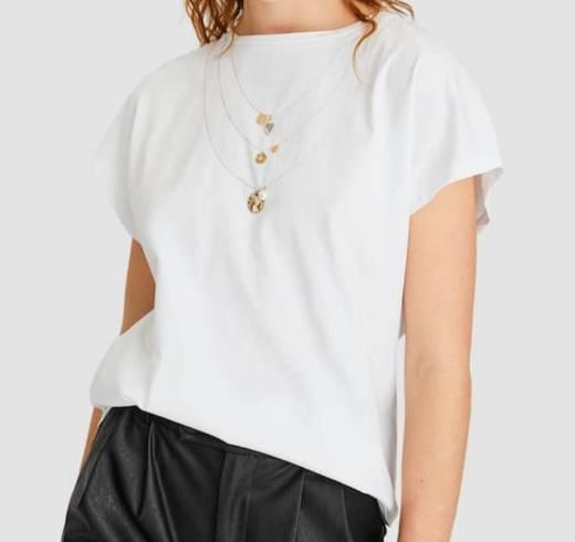 Camiseta collar joyas