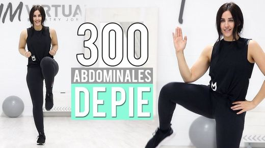 300 Abdominales de pie | Aplanar abdomen y reducir cintura