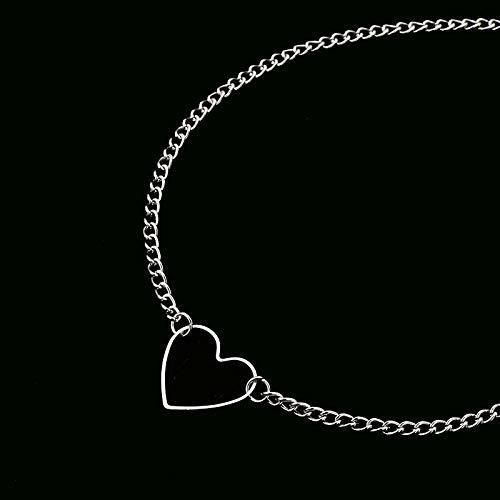 LWHRKSJC Gargantilla De Corazón Hueco Collares Para Mujer Collar De Collar De