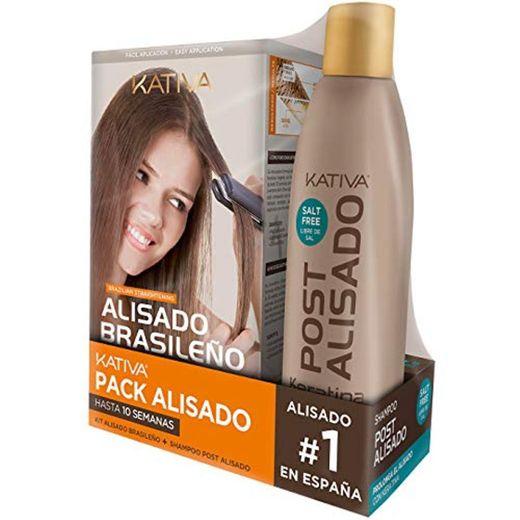 Kativa Brasileño Pack con Kit de Alisado y Champú