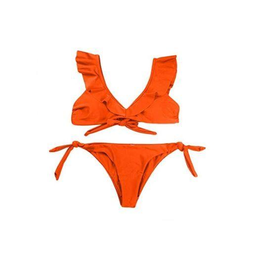 JUTOO Bañador Mujer Bikini para Mujer Traje de baño de Dos Piezas