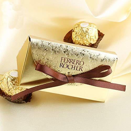Caja de Dulces de Papel Dorado Ferrero Rocher Bolsa de Regalo Cajas