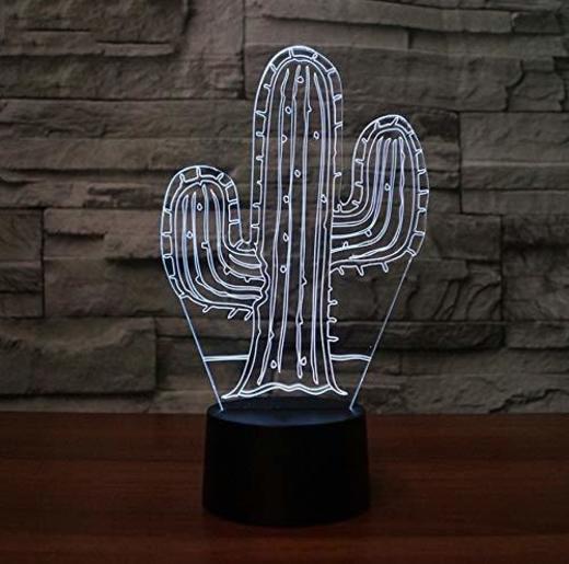 LXD Luz de noche de acrílico del hogar 3D llevó lámparas de