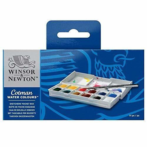 Winsor & Newton Sketcher Cotman Caja plástica de acuarela
