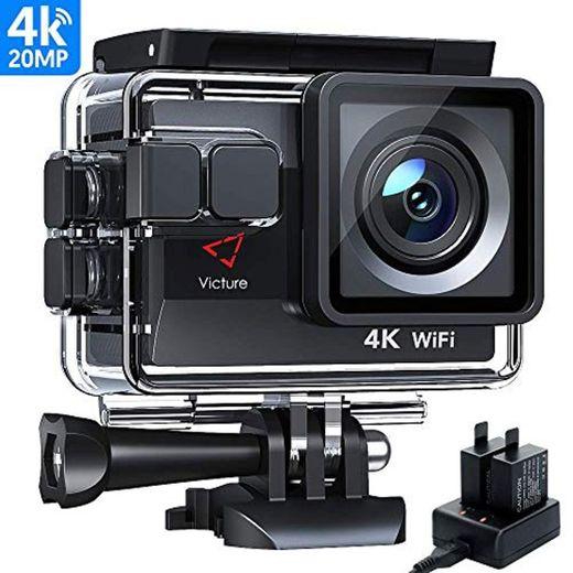 Victure Cámara Deportiva Wifi 4k Ultra HD 20MP Action Camera Acuatica de