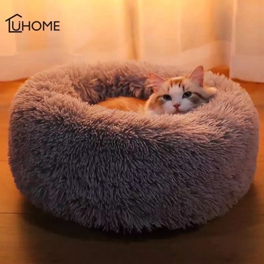 Luxury Hairy Pet Cat Bed Indoor Kitten House Fluffy Plush
