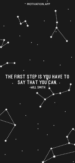 The first step is you have to say that you can