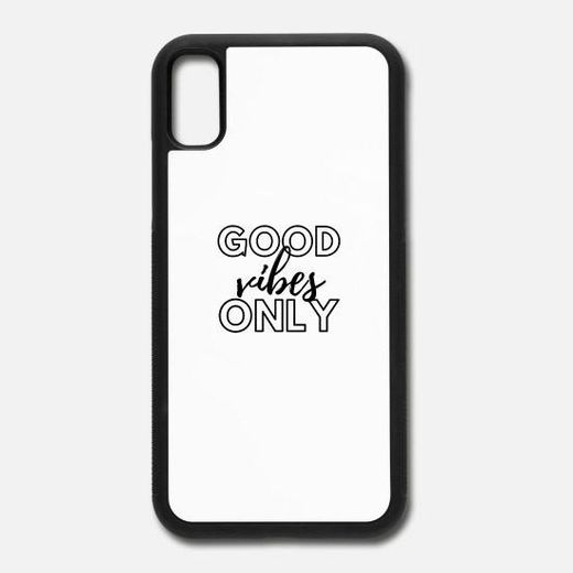 iPhone X Case Good Vibes Only
