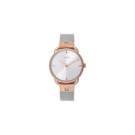 Tous Relógio Let Mesh bicolor aço/IP rosado acessórios