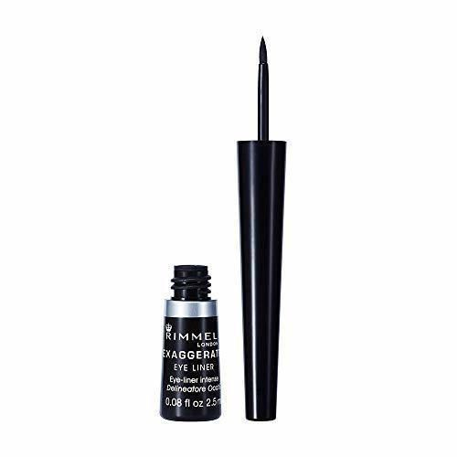 Rimmel London Exaggerate Liquid Eye Liner Delineador Líquido Tono 001 100% Black-