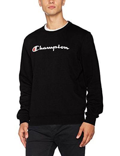 Champion Crewneck Sweatshirt-Institutionals Sudadera, Negro