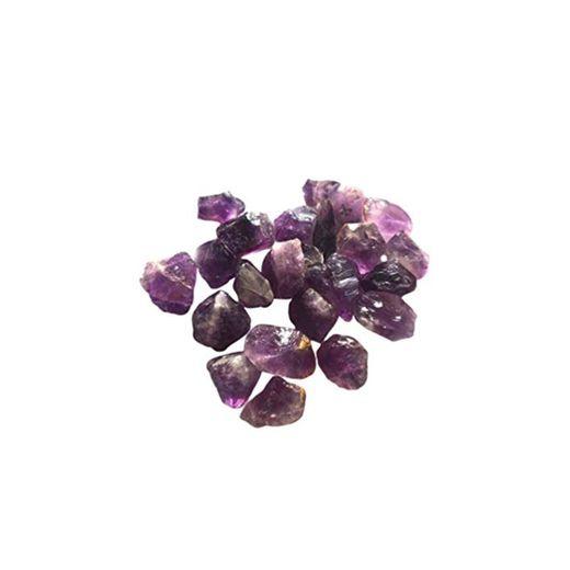 Milisten 1 Paquete de Piedras de Cuarzo Amatista Natural Amatista Áspera Piedra de Cristal Púrpura Cruda 200G
