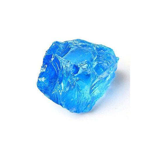 ACEACE 1PC Chakra Cuarzo electrochapado del Cristal del Color de la Piedra