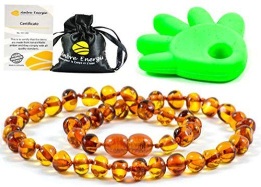 AmberJewellery Collar de Ambar 33cm. - De la Máxima Calidad Certificado Genuino
