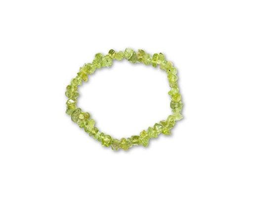Taddart Minerals Pulsera divisora verde de la piedra natural peridoto montada en