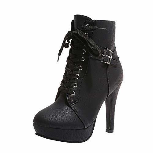 ZARLLE_Botas Zapatos Mujer Mujer Botines de Mujer Botines Cortos Botas De Plataforma