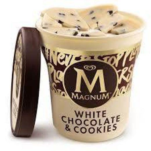 GELADO MAGNUM CHOCOLATE BRANCO E COOKIES