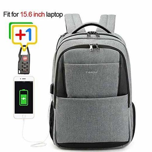 na Tigernu Casual Travel 15.6 Pulgadas Laptop Bagpack Men Anti Theft Mochilas