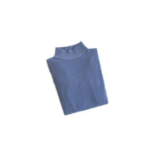 Bowen Jimmy Turtleneck Pullovers Sweaters Knitted Elasticity Casual Warm Women Sweater Turtleneck Blue S