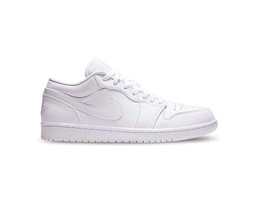 Nike Air Jordan 1 Low, Zapatos de Baloncesto para Hombre, Blanco