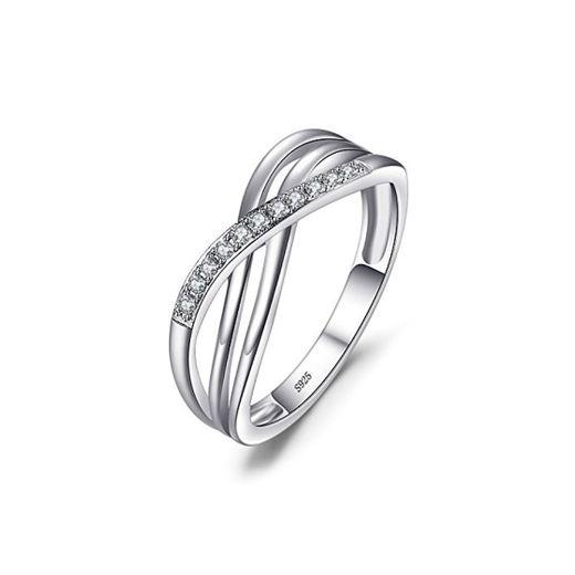 JewelryPalace Anillo Infinito de Compromiso Boda Promesa Aniversario Plata de ley 925 Tamaño 14