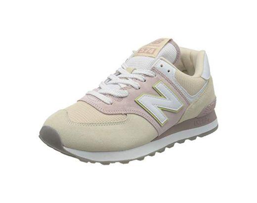 New Balance 574 WL574LBL Medium, Zapatillas para Mujer, Pink