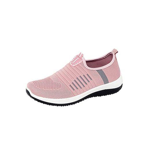 Luckycat Zapatillas Deportivo para Mujer Verano Running Zapatos Deporte Fitness Exterior Caminar Calzado de Cordones Gimnasia Aire Libre Casual Mujer Zapatos Sin Cordones