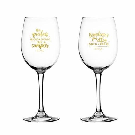 Mr. Wonderful Set de 2 Copas de Vino para Novios