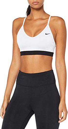 Nike Indy Sujetador Deportivo, Mujer, Blanco
