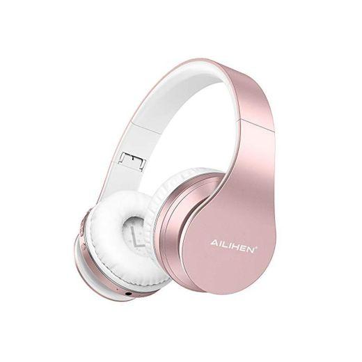 AILIHEN A80 Audífonos Inalámbricos Bluetooth 5.0 Plegables sobre Oreja con Micrófono Hi-Fi