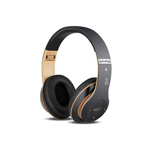 Auriculares Cerrados Inalámbricos 6S, Alta fidelidad Estéreo Auriculares Estéreo Inalámbricos Plegables, Micrófono