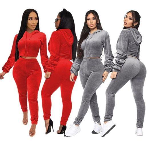 Mujeres 2 Piezas Traje Deportivo Colorido Pantalones Casuales Top chándal Traje de
