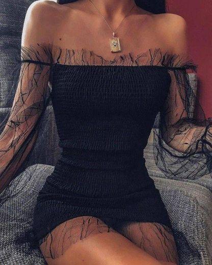 KOJOOIN Elegante Slim Sin Mangas Fiesta Vestido para Mujer Vestidos Ajustados Mujer