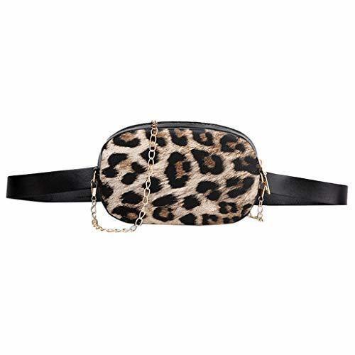 Riñonera de Moda Riñoneras para Mujer Leopardo Moda Vestir Deportiva Running Cinturón