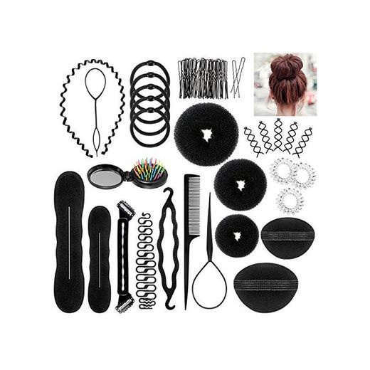 ivencase 28pcs Accesorios de Peinado