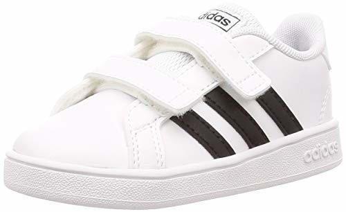 Adidas Grand Court I, Zapatillas de Estar por casa Bebé Unisex, Blanco