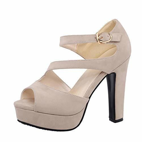Chaussures pour Femmes Talon Haut Large Sexy Printemps 2020 LuckyGirs Femmes Sandales