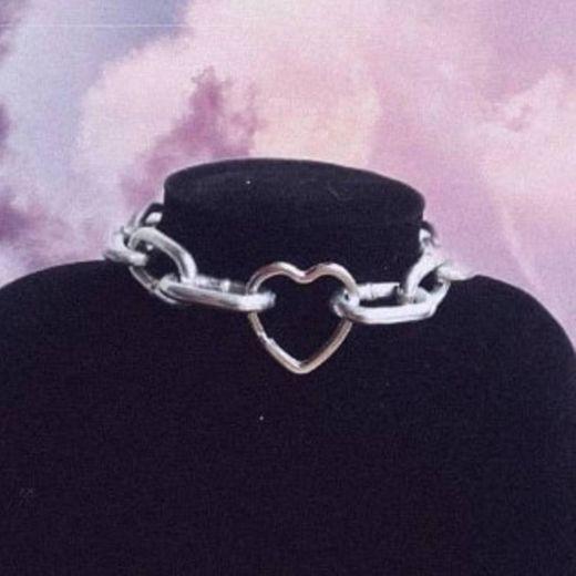 Choker cadena corazón