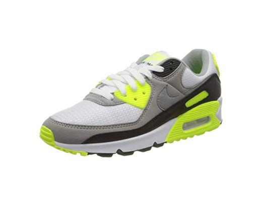 Nike W Air MAX 90, Zapatillas para Correr para Mujer, Blanco