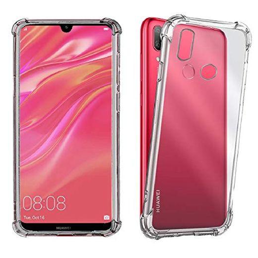 REY Funda Anti-Shock Gel Transparente para Huawei Y7 Prime 2019