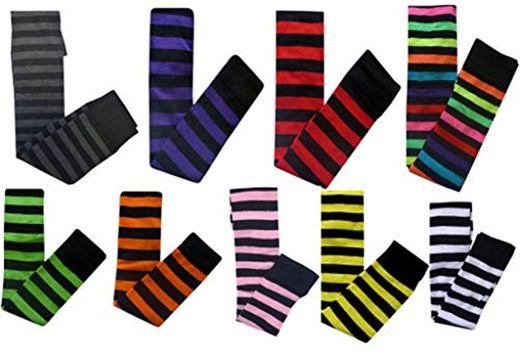 Green Stripe Socks) Raya verde Emo Goth de Halloween Más de Calcetines
