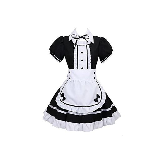 tzm2016 Anime Cosplay Costume French Maid Outfit Halloween 4 pcs as a