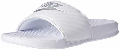 Nike Wmns Benassi JDI, Chanclas para Mujer, Blanco