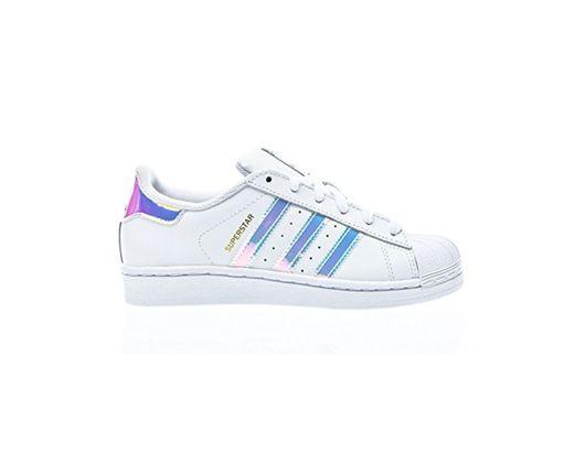 adidas Superstar J, Zapatillas Unisex Niños, Blanco