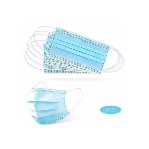 GerTong 5 PCS Máscara Desechable Máscara Anti-contaminación Máscara Protectora de Filtración Multicapa