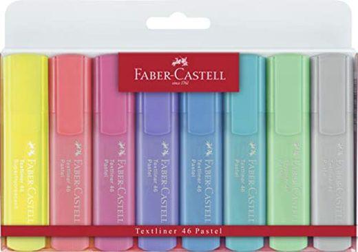 Faber-Castell 154681 - Estuche con 8 marcadores fluorescentes tonos pastel y 2