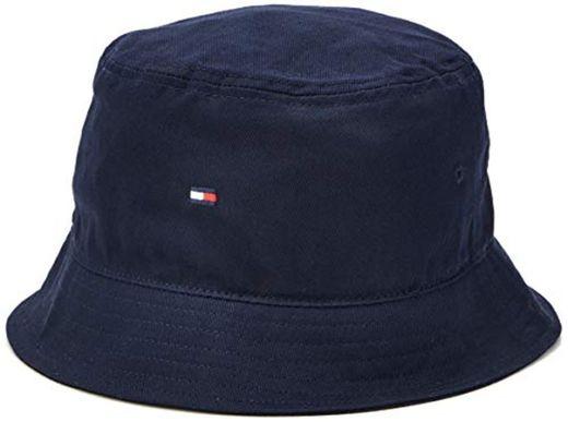 Tommy Hilfiger Flag Bucket Hat Gorro Estilo Aviador, Azul