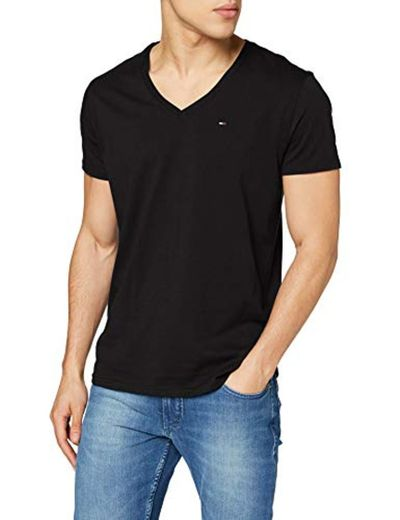 Tommy Hilfiger Original Jersey Camiseta, Negro