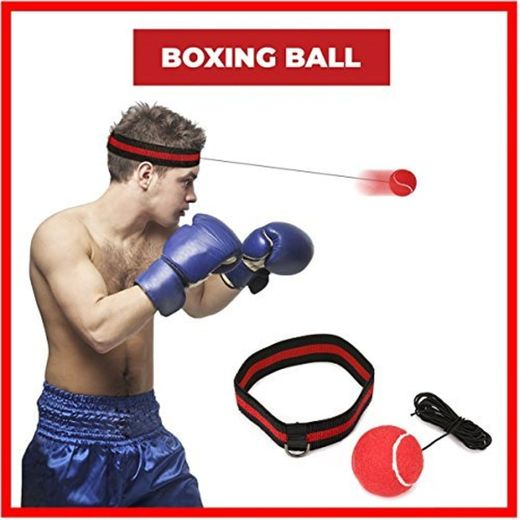 Pelota Boxeo, SGODDE Fight Ball Reflex en cadena con diadema para Fight