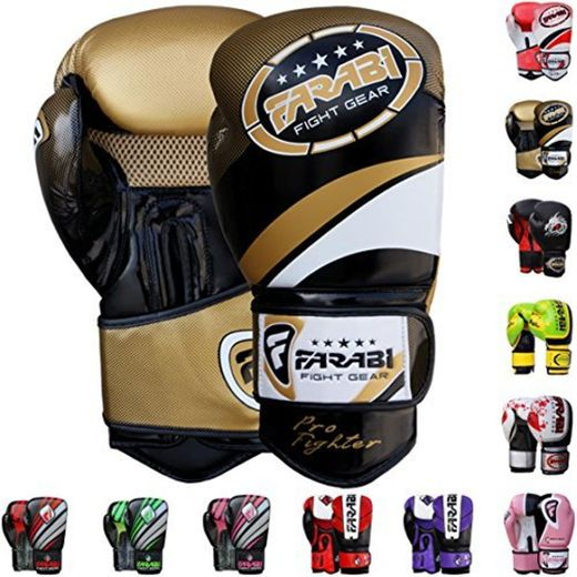 Farabi Vento Boxing Gloves-Golden